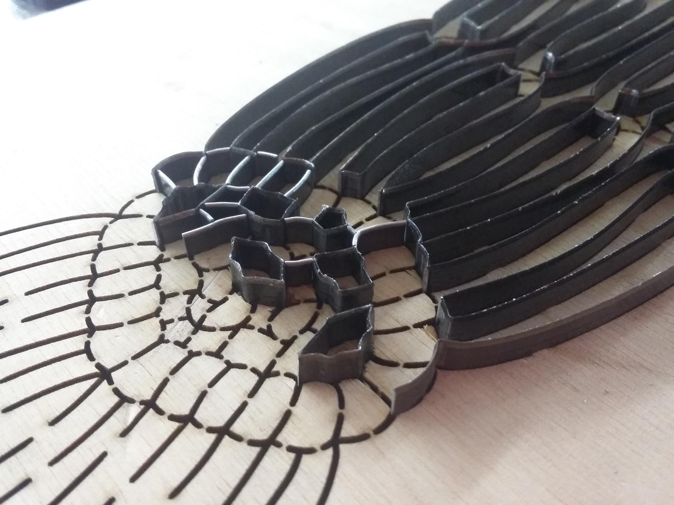 Formes de découpe pour textile