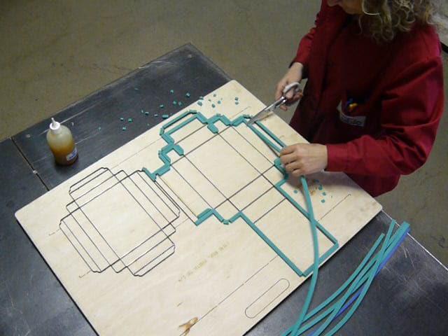 Formes de découpe sur base de bois